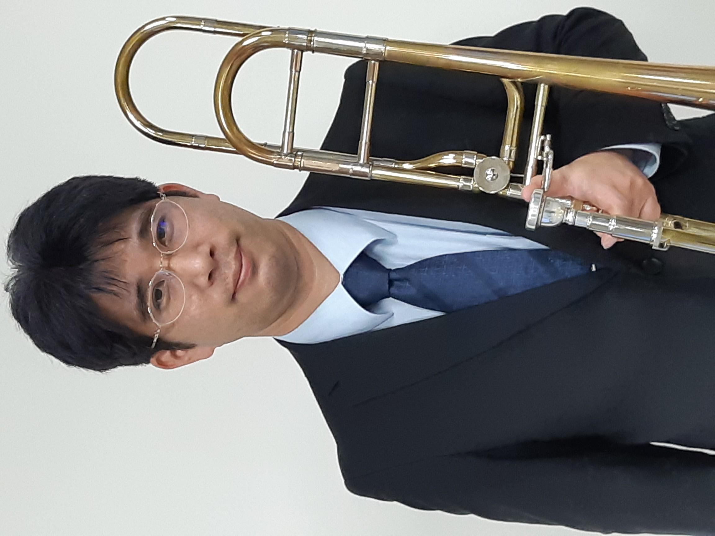 【吹奏楽部中学生向け】トロンボーン・梅津博充先生によるワークショップ